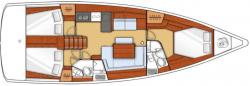 Oceanis 45 Layout Sail Grenadines